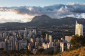 Panoramic of skyscrapers in Benidorm, Spain — Stock Photo