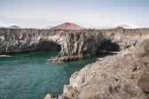 Volcanic mountains, Timanfaya National Park in Lanzarote Island — Stock Photo
