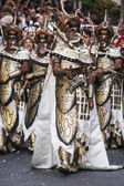 ALCOY, SPAIN - MAY 4: Men wearing moorish costumes marching in a — Stock Photo
