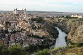 Landscape of medieval city of Toledo at suset, Spain — Foto de Stock