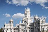 El ayuntamiento de madrid o el antiguo palacio de comunicaciones, — Foto de Stock