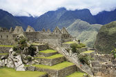 Panoramic of the archeological site Machu Picchu, Cuzco, Peru, seven wonder of the world — Stock Photo