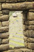 Ancient window in the archeological site Machu Picchu, Cuzco, Pe — Stock Photo