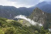 Panoramic of the archeological site Machu Picchu, Cuzco, Peru, s — Stock Photo