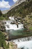 Waterfall in Ordesa National Park, Pyrenees (Spain) — Stock Photo