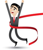 Cartoon businessman jumping — Stock Vector