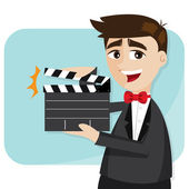 Cartoon businessman with director cut — Stock Vector