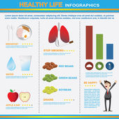 Infographics of healthy lifestyle — Vector de stock