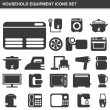 Household equipment icons set — Stock Vector