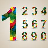 Colorido conjunto número — Vector de stock
