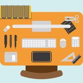 Workstation design element — Stock Vector