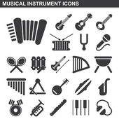 Musical instrument icons set — Stock Vector