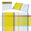 Yellow notebook — Stock Photo