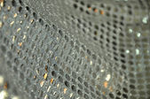 Shiny gray fabric — Stock Photo