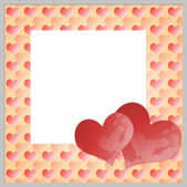 Background two hearts — Stock Photo