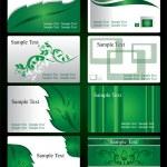 Szablony wizytówek - ilustracja wektorowa — Wektor stockowy  #27996705