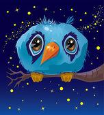 Tecknade djur fågel — Stockvektor