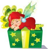 Gift elf — Stock Vector