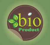 Bio product label template — Stock Vector