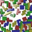 Stock Photo: Colored blocks