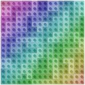 Rainbow blocks — Stock Photo
