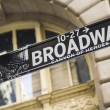 Stock Photo: Broadway Street Sign New York City