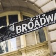 Broadway Street Sign New York City — Stockfoto