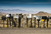 Row of mailboxes — Stock Photo