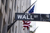 Wall Street Sign New York City — Stock Photo