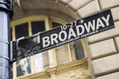 Broadway Street Sign New York City — Stock Photo