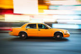 Taxi Cab in New York City Time Square — Stock Photo