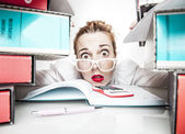 Secretary Stress Work Office humor — Stock Photo