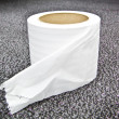 Closeup roll of white toilet paper — Stock Photo