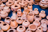 Small pottery clay and crafts in Thailand — Stock Photo