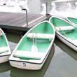 Stock Video: Rental rowboats in park