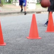 Coach training basic of basketball skill for children — Vídeo Stock