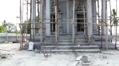 New temple under construction — Vídeo de stock