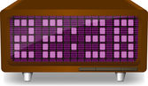 Electronic clock — Stock Vector