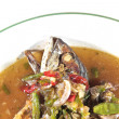 Thai food spicy mackerel — Stock Photo