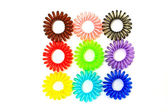 Colorful Spiral Elastic Hair Ties — Stock Photo