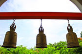 Bronze bells at a Buddhist temple — Stockfoto