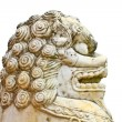Lion statue on white background — Stock Photo