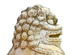 Lion statue on white background — Stockfoto