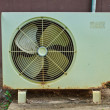 Old Electric fan aircondition — Stock Photo