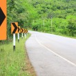 Road Signs warn Drivers for Ahead Dangerous Curve — Stock Photo #34195677