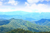 Views of the valley to the high peaks of 1200 meters in the nati — Stock Photo