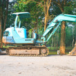 图库照片: Back Hoe construction machinery