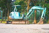 Back Hoe construction machinery — 图库照片