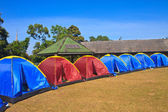 Colorful tent on the camping ground — Stock Photo