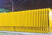 Yellow Folding table — Stock Photo